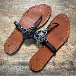 Tory Burch Navy Sandals